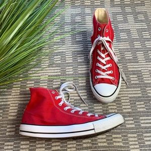 Converse High Top red sneakers  men's 12